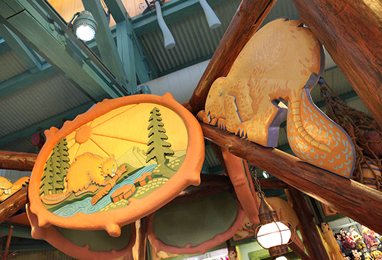 Playful Animals Fill the Sky Inside Island Mercantile at Disneys Animal Kingdom Theme Park