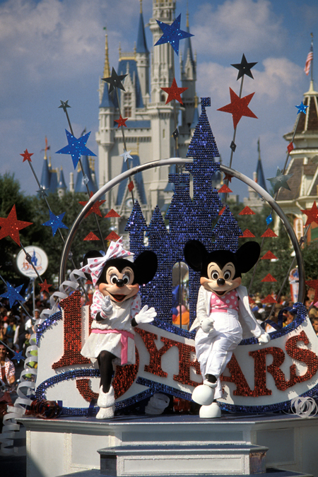 15 Years of Magic Rolled Down Main Street, U.S.A., at Magic Kingdom Park in October 1986