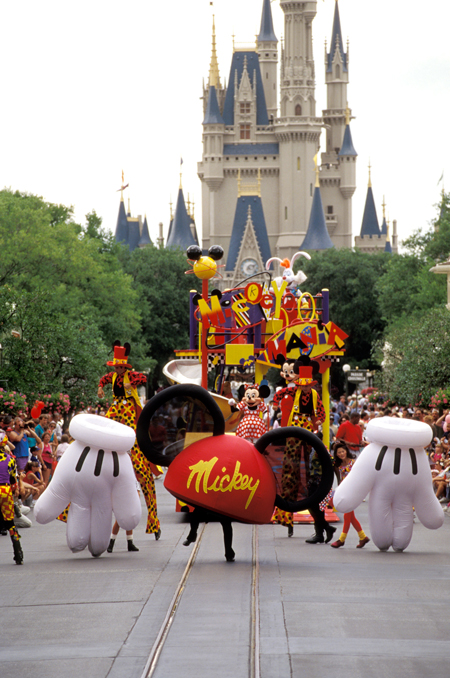 The Mickey Mania Parade Hit Main Street, U.S.A., at Magic Kingdom Park in the Summer of 1994
