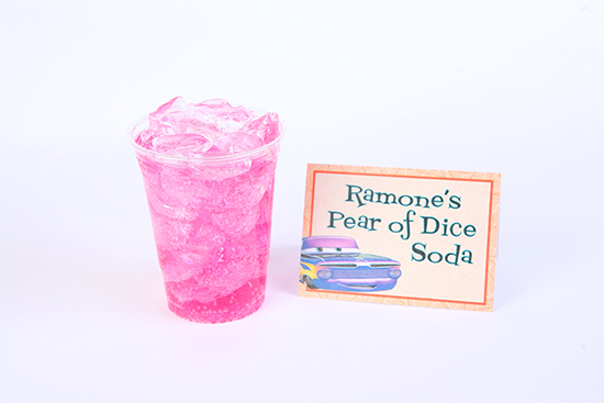 Ramones Pear of Dice Soda in  Cozy Cone Motel at Disney California Adventure Park