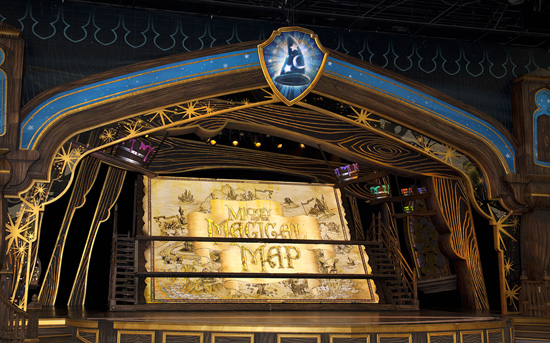 The Opening Title for Mickey and the Magical Map at Disneyland Park