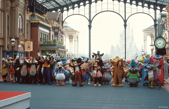 Can You Identify the Pink Character on the Far Right of this Tokyo Disneyland Photo?