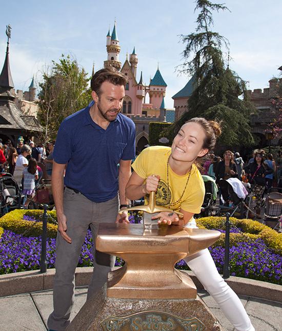 Olivia Wilde and Jason Sudeikis Visit the Disneyland Resort