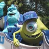Mike and Sulley Appear Before the Celebrate A Dream Come True Parade at Magic Kingdom Park
