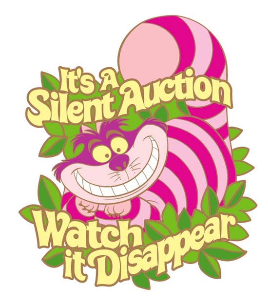 Cheshire Cat Pin from D23 Expo Silent Auction Saturday, Aug. 10