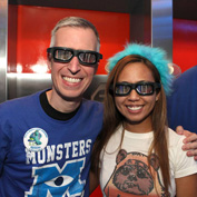 Steven Miller and His Fiancee Jennifer at Star Tours - The Adventures Continue