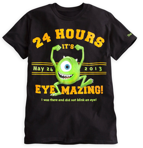 Logo Shirt Featuring Mike Wazowski, Part of the Eye-mazing Merchandise for Monstrous Summer All-Night Party