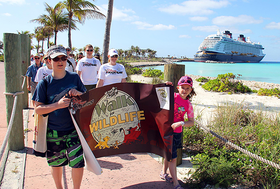 Disney Cruise Line Engages Guests &#038; Crew in Annual Walk for Wildlife