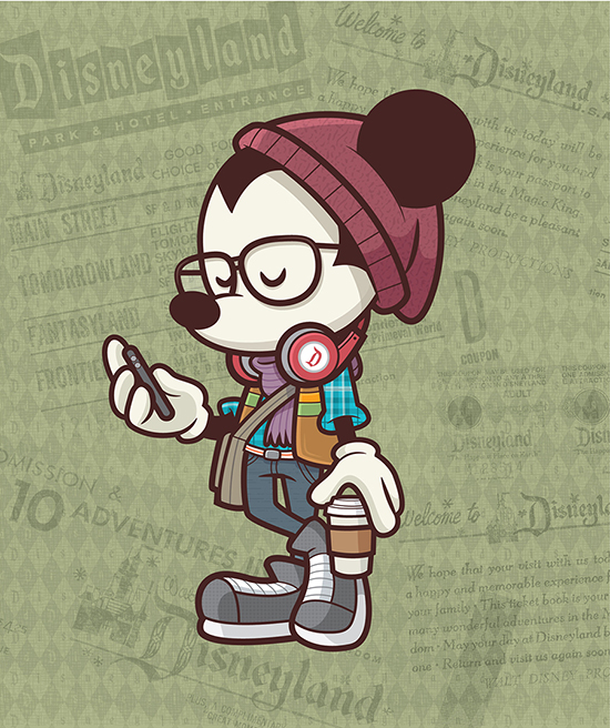 Happiest Hipster on Earth Mickey