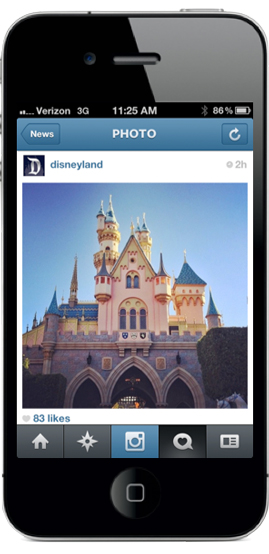 Disneyland Resort - 'Most Instagrammed' Location in U.S. - Now on Instagram