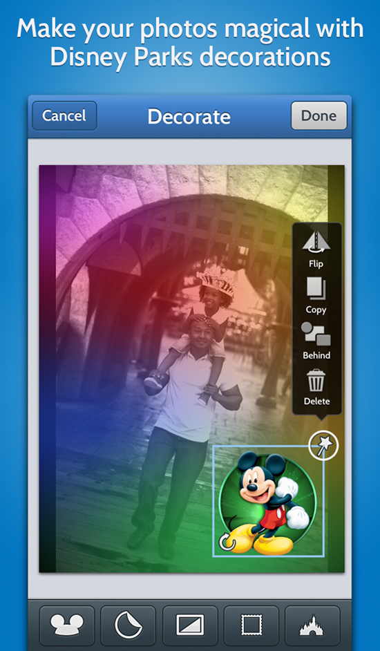 Disney Memories HD App Now Available For Android &#038; iPhone Offers a Few Great Ways to Add a Disney Touch to Your Photos