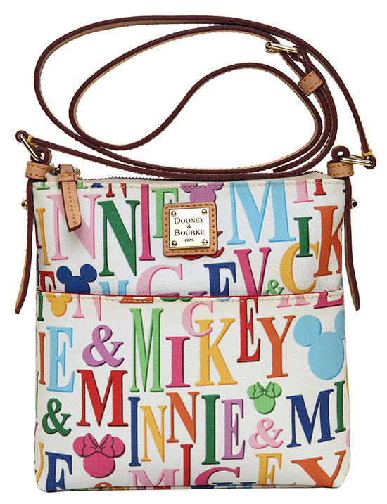 Limited Time Dooney & Bourke Rainbow Collection Letter Carrier with White Background