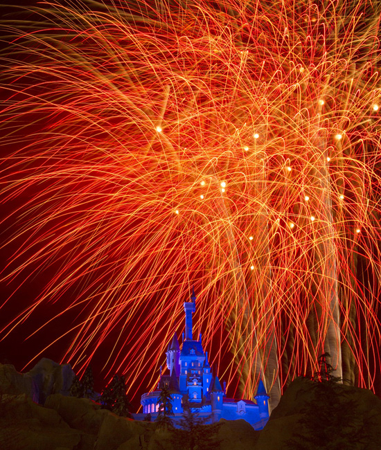 Disney Parks After Dark: Fireworks at Beasts Castle in New Fantasyland
