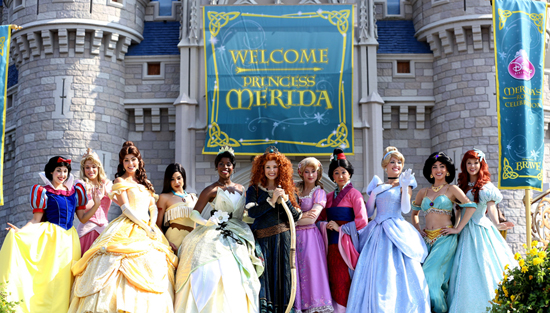 Merida Coronated as the Eleventh Disney Princess at Magic Kingdom Park