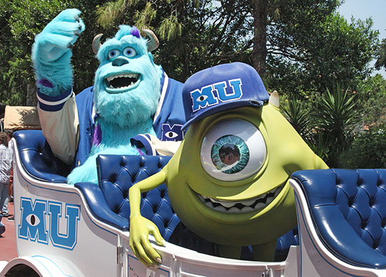 Mike and Sully Appear Before the Celebrate a Dream Come True Parade