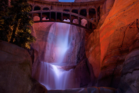 Firewall Falls in Ornament Valley at Disney California Adventure Park