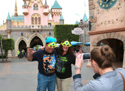 I Stopped to Take a Photo for Christopher and Marion who Gave us their Most Monstrous Growls in Fantasyland.