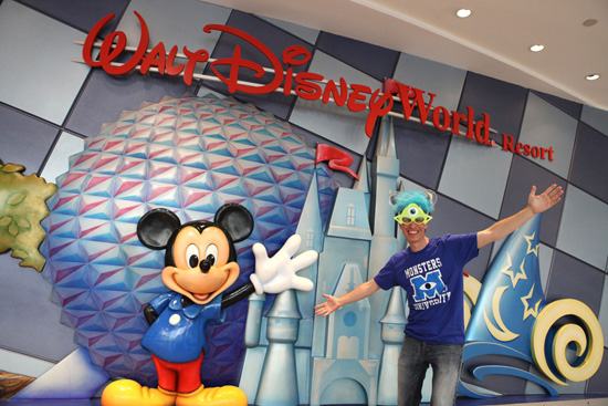 Steven is Ready to Go from Walt Disney World Resort to the Disneyland Resort