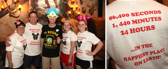 Disney Parks Blog Author Steven Miller with the Lambert Family at Gaston's Tavern in New Fantasyland