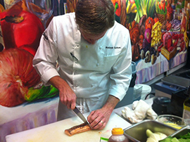 "Chef Andrew Sutton at the Skuna Bay Chef Challenge at the legendary ""Taste of Derby"" in Kentucky"