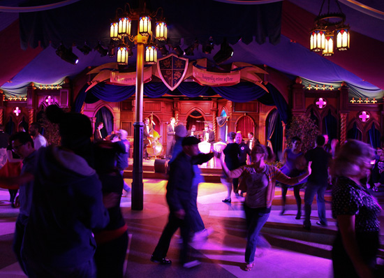 Royal Swing Ball Underway at Royal Theatre in Disneyland Park