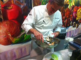 Chef Andrew Sutton at the Skuna Bay Chef Challenge at the legendary Taste of Derby in Kentucky