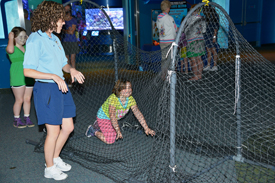 Climb Through a Full-Size Model of a Turtle Excluder Device on Endangered Species Day at The Seas at Epcot and Disney's Animal Kingdom