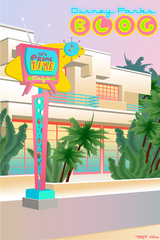 50's Prime Time Cafe at Disney's Hollywood Studios iPhone/Android Wallpaper