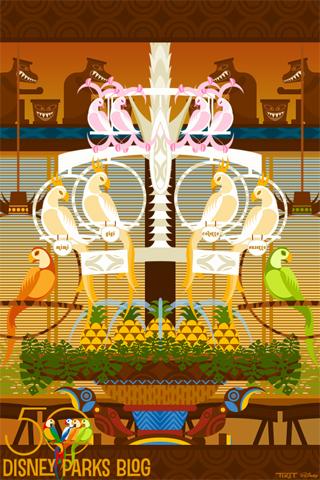 Walt Disney's Enchanted Tiki Room Wallpaper