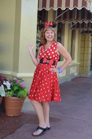 This Look is Spot on Minnie Head to Toe, the Dress and Shoes Were Bought at Disney Parks