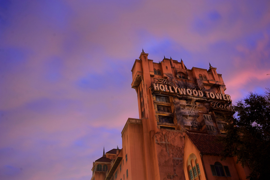Disney Parks After Dark: Sunset at the Hollywood Tower Hotel
