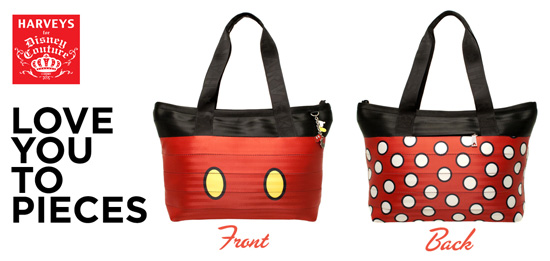 'Love You To Pieces!' Is the Newest HARVEYS for Disney Couture Seatbeltbag Collection Debuting at the Disneyland Resort