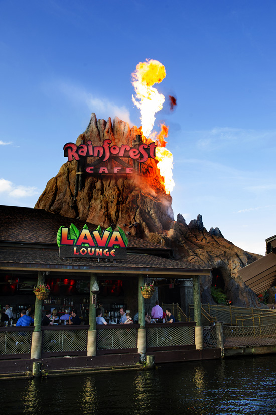 The New Lava Lounge at Rainforest Cafe, in Downtown Disney Marketplace at Walt Disney World Resort