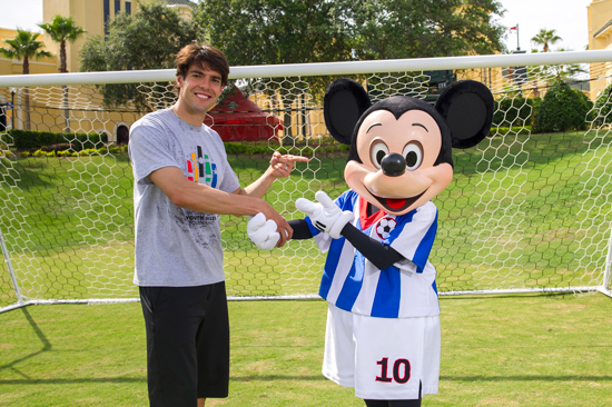 Soccer Star Kaká and Mickey Mouse kick it at ESPN Wide World of Sports