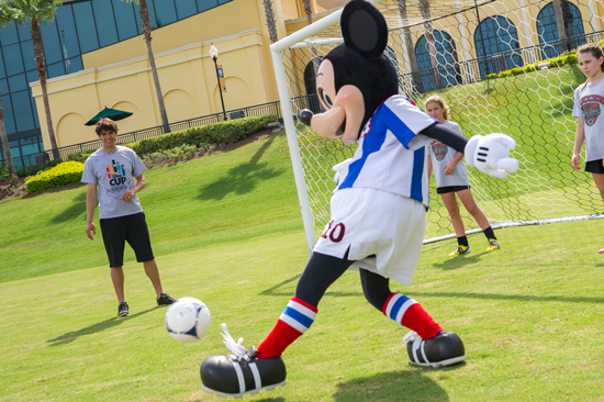 Kaká Gave a Quick Soccer Lesson to Mickey and a Couple of his Youth Soccer Friends, Demonstrating Proper Techniques for a Penalty Kick and Corner Kick