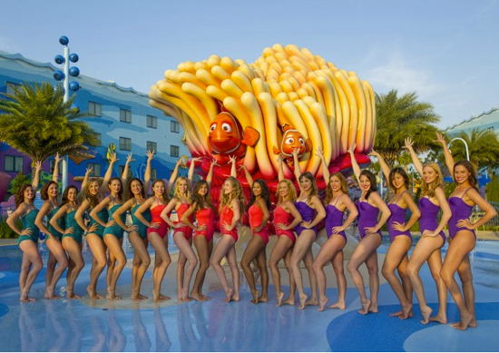 The Aqualillies Celebrate the Start of Summer at Disney's Art of Animation Resort