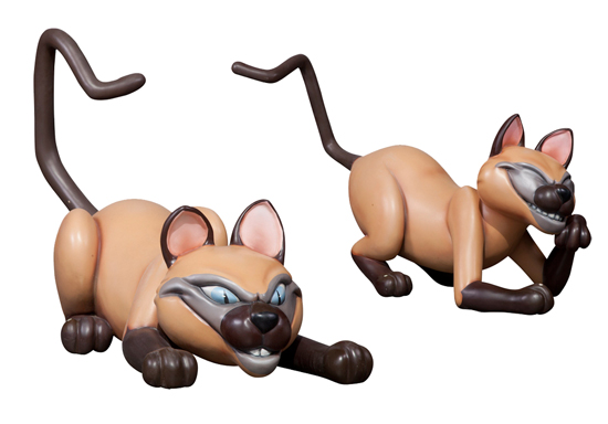 Siamese Cats - Si and Am Props from 'Lady and the Tramp'