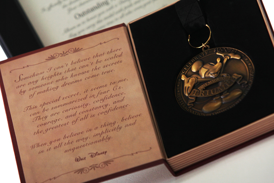 After Dad Reads The Certificate, Award Him This Exclusive Disney Medal, Presented In A Special Storybook