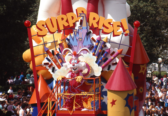 Roger Rabbit in the 20th Anniversary Surprise Celebration Parade at Magic Kingdom Park