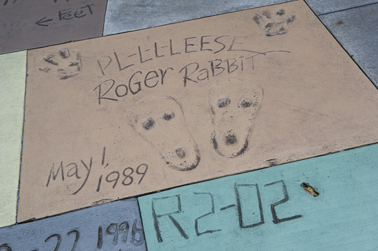 Roger Rabbit's Footprints in Front of The Great Movie Ride at Disney's Hollywood Studios