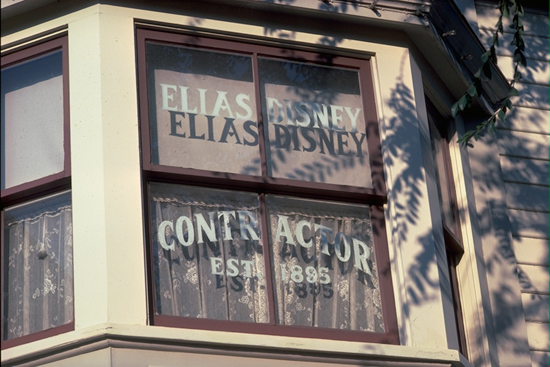 Windows on Main Street, U.S.A., at Disneyland Park: Elias Disney
