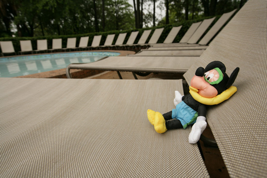 Caption This: Mickey Mouse Lounges Poolside