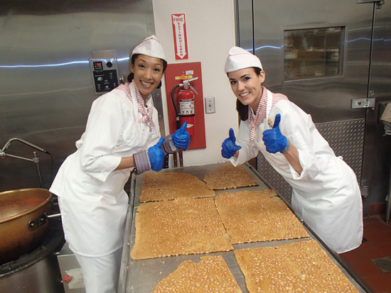 Disneyland Resort Ambassadors Megan Navarette and Sachiko White Learn About Candy Making at the Disneyland Resort