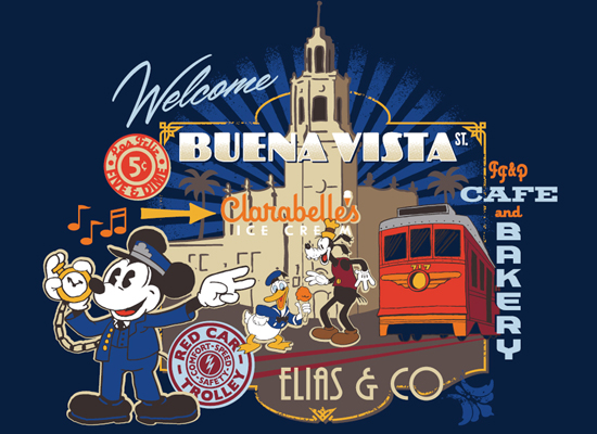 New Look for Buena Vista Street Merchandise at Disney California Adventure Park