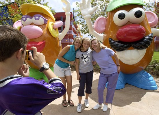 Caption This: Meeting Mr. & Mrs. Potato Head at Disney's Pop Century Resort