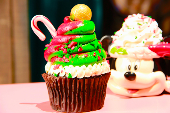 Holiday Cupcake at Jolly Holiday Bakery Café at the Disneyland Resort Available During 'Limited Time Magic' Christmas in July Week
