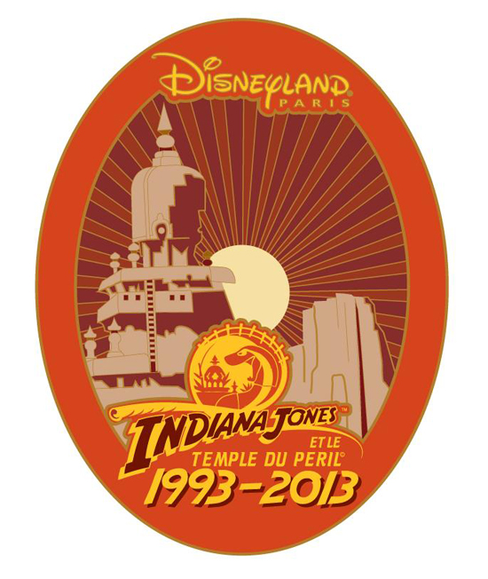 Indiana Jones and the Temple of Peril Pin at Disneyland Paris