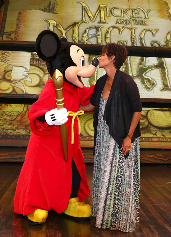 Halle Berry Meets Mickey Mouse at 'Mickey and the Magical Map' at Disneyland Park