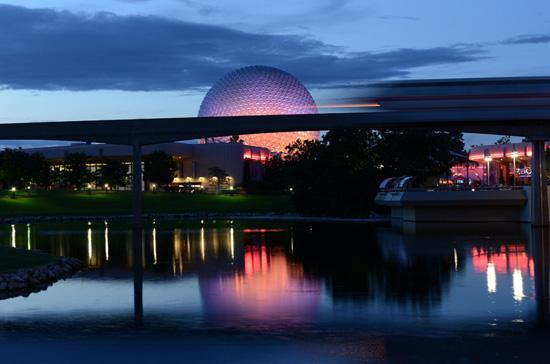Disney Parks After Dark: Spaceship Earth at Epcot at the Walt Disney World Resort