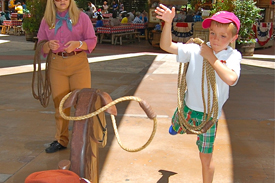 Shawn Slater Brings His Boys to Woody's All-American Roundup For Some Frontier Fun at Disneyland Park
